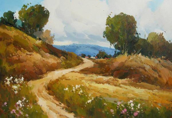 Landscape Art Print featuring the painting Back Roads by Imagine Art Works Studio