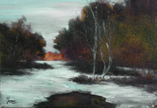 Winter Art Print featuring the painting Bundle Up by JoAnne Lussier