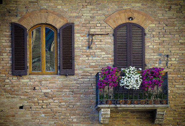 Italy Art Print featuring the photograph Shutters by Gary Lengyel