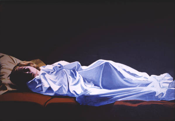 Figure Art Print featuring the painting Sleeper by Neal Smith-Willow