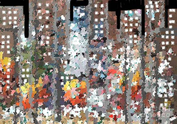 Abstract Art Print featuring the painting A Night In Chicago by Don Phillips
