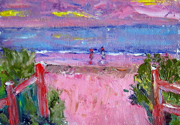 Beach Art Print featuring the painting Path To The Beach by Lia Marsman