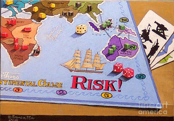 Still Life Art Print featuring the painting Risk - Cornered Again by David Francis