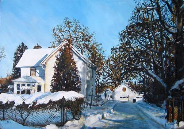 Landscape Art Print featuring the painting Winter Drive by William Brody