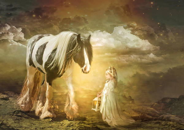 Gypsy Cob Art Print featuring the photograph By Lantern Light by Trudi Simmonds