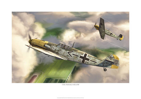 Aviation Art Print featuring the digital art The Passage Below by Craig Tinder