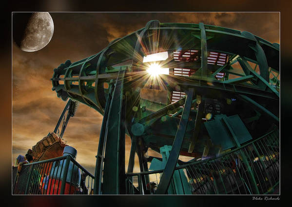 Giants Art Print featuring the photograph Moon And Coke Bottle Giants by Blake Richards
