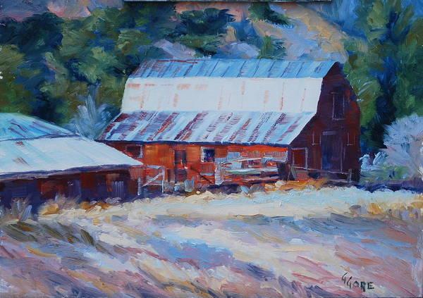 Barn Art Print featuring the painting Cedar Hill Barn by Gary Gore