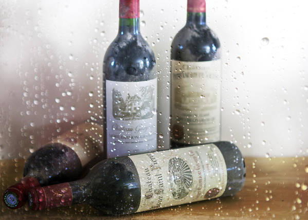 Saint Emilion Wine Art Print featuring the photograph Fine Wine On A Rainy Afternoon by Georgia Fowler