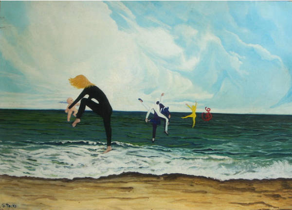 Surreal Art Print featuring the painting The Dancers by Georgette Backs