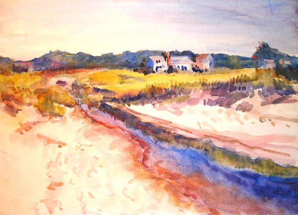 Landscape Art Print featuring the painting Cole Brook by Joyce Kanyuk