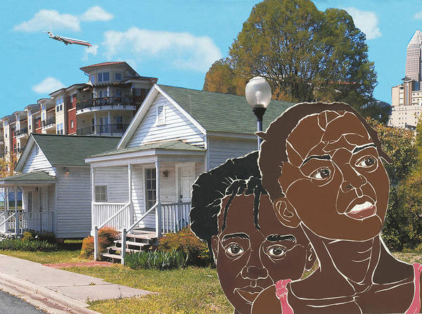 Shotgun Houses Art Print featuring the mixed media Yesterday Today Tomorrow by Martha Rucker