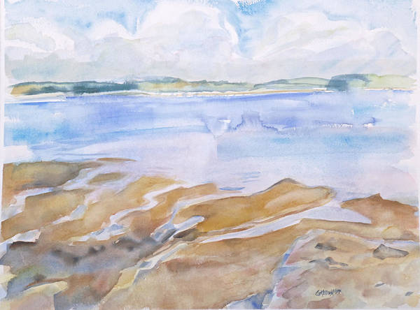 Penobscot Bay Art Print featuring the painting Low Tide - Penobscot Bay by Grace Keown