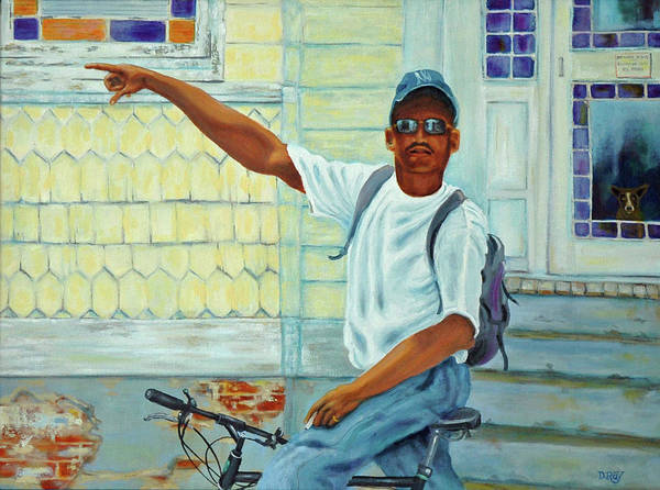 Charleston Art Print featuring the painting Turn Right On King Street by Dwain Ray