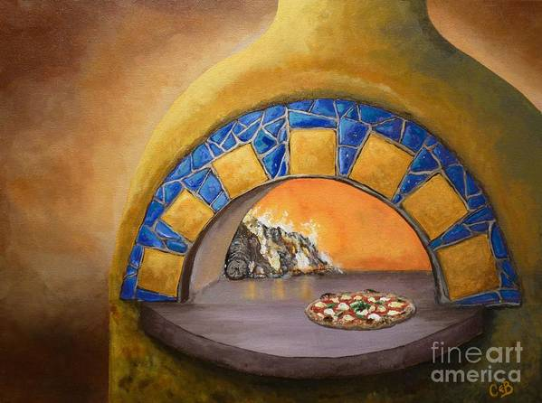 Pizza Art Print featuring the painting Wood Fired by Chad Berglund