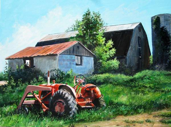 Farm Art Print featuring the painting At Rest by William Brody