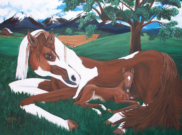 Horses Art Print featuring the painting Davy by Tammy Dunn