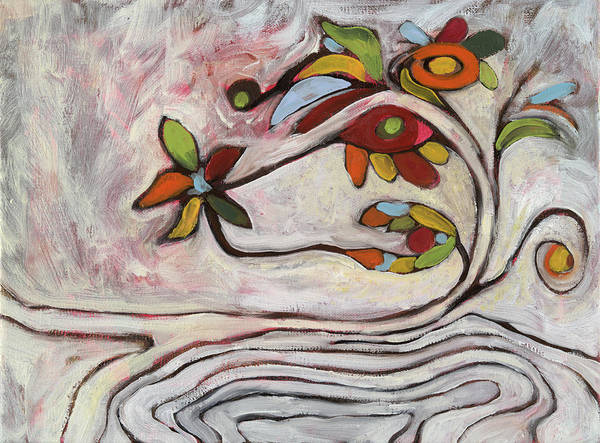 Abstract Art Print featuring the painting Weeds1 by Michelle Spiziri