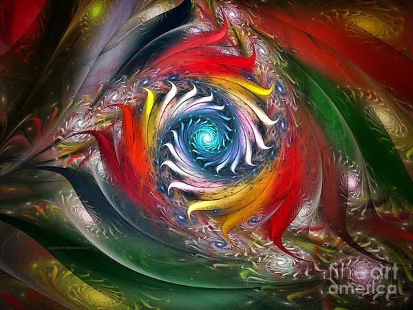 Abstract Art Print featuring the digital art My My Beautiful Laundrette-fractal Art by Karin Kuhlmann