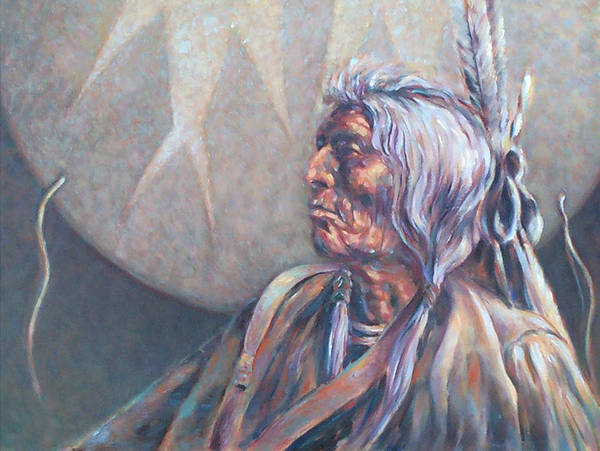 Old Indian Art Print featuring the painting I Was Young Once by Don Trout