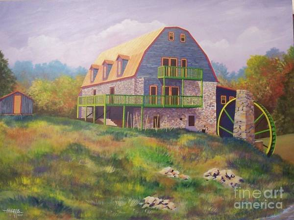 Mill Art Print featuring the painting Mountain Mill by Hugh Harris
