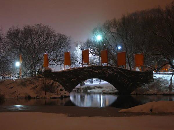 Bridge Art Print featuring the photograph Crossing Gapstow Bridge by Sam Oppenheim