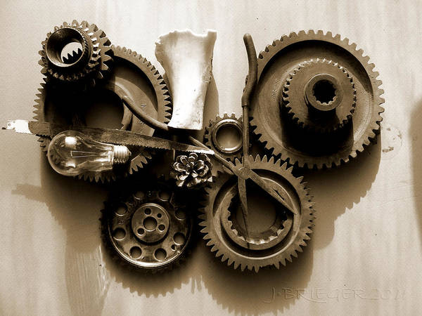 Accuracy Circle Complexity Cog Cogwheel Component Concept Conceptual Connect Connection Cooperation Design Development Drive Endurance Energy Engine Engineering Equipment Factory Fit Gear Gears Industrial Industry Interlock Isolated Machine Machined Machinery Mechanical Mechanics Mechanism Meshing Metal Metallic Mobile Motion Motor Part Perpetuum Power Rotation Strength Steel Still Transmission Technical Technology Turning Teeth Toothed Wheel Wheels Work Working Print featuring the pyrography Gears IIi by Jan Brieger-Scranton
