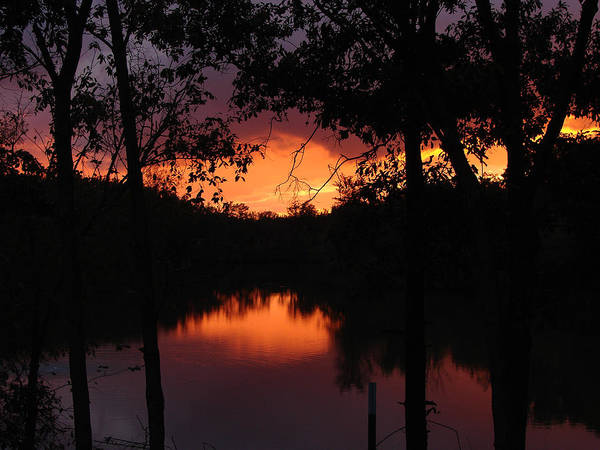 Sunset Art Print featuring the photograph I Found Red October by J R Seymour