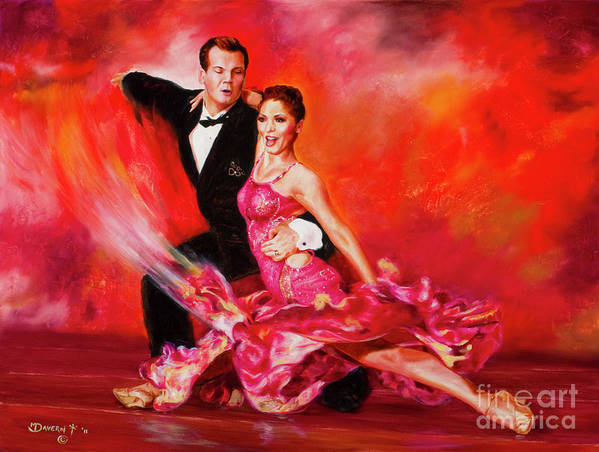 Ballroom Dancers Art Print featuring the painting O So Pretty by Paint The Floor