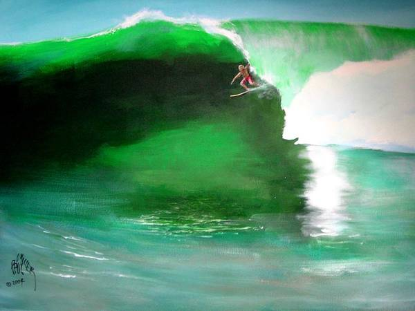 Surf Art Print featuring the painting Pat Connor Leaving Church K55 Baja by Paul Miller