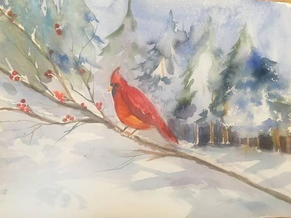 Red cardinal  by Maurie Harrington