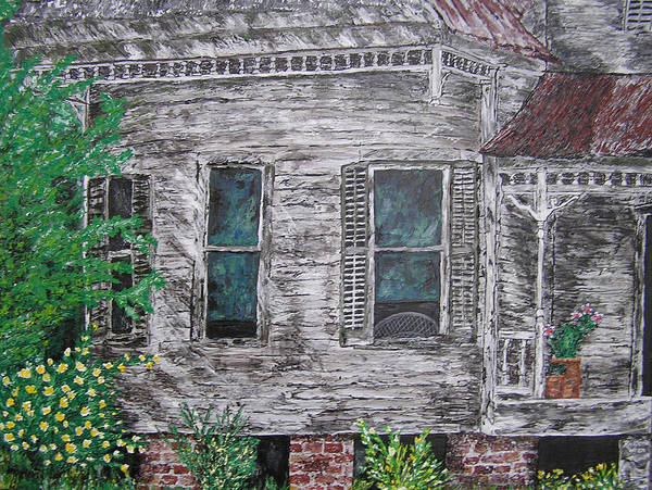House Art Print featuring the painting Solitude Awaits by Ricklene Wren