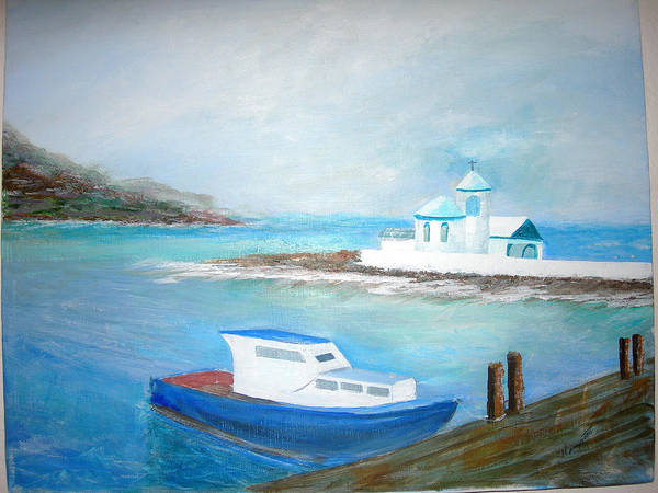 Seascape Art Print featuring the painting Spirit Of The Sea by Jack Hampton