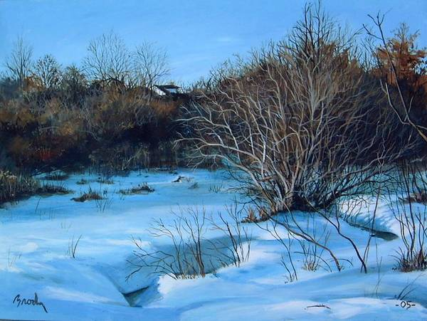 Landscape Art Print featuring the painting Winter by William Brody