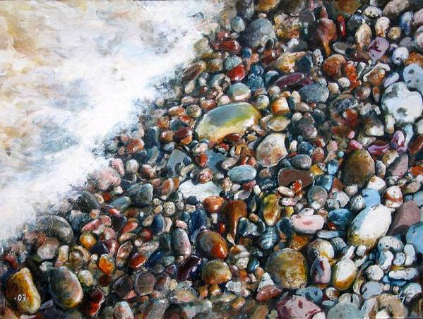Stones Art Print featuring the painting A Treasure Between by William Brody