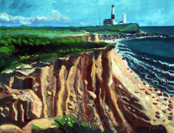 Montauk Art Print featuring the painting Montauk Camp Hero 04a by Ralph Papa