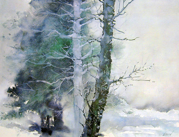 Trees Art Print featuring the painting Alders And Cedar by Dale Witherow