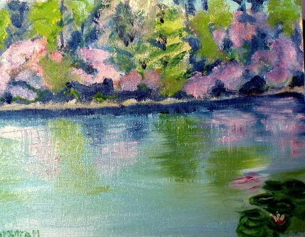 Water Art Print featuring the painting Pond 3 by Lia Marsman