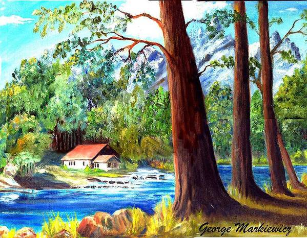 Lake Art Print featuring the print A Quiet Place by George Markiewicz