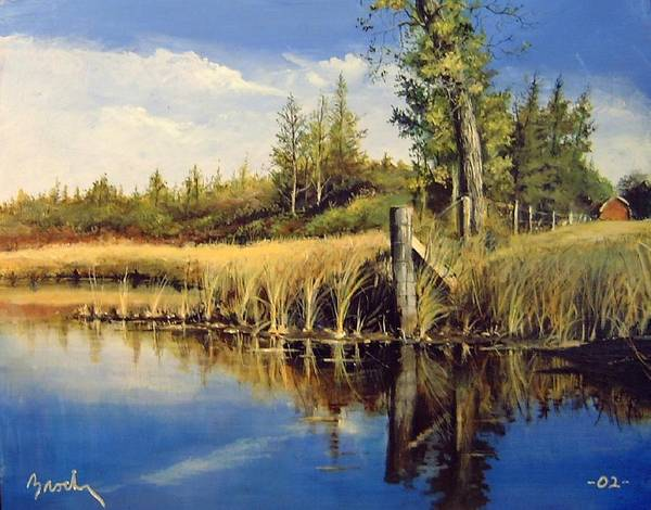 Landscape Art Print featuring the painting Along The Way by William Brody