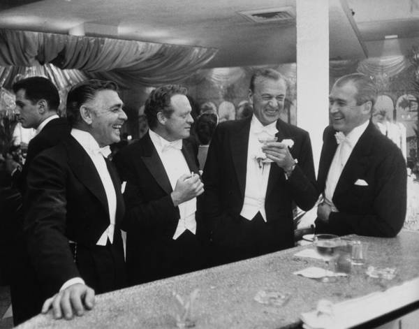 Jimmy Stewart Art Print featuring the photograph Kings Of Hollywood by Slim Aarons