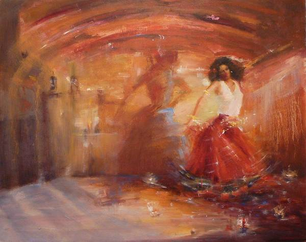 Dance Art Print featuring the painting Sold Bohemian by Irena Jablonski