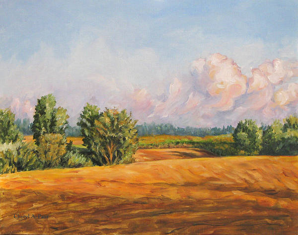 Landscape Art Print featuring the painting Equilibrium by Cheryl Pass