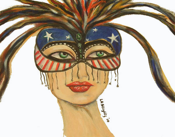 Art Print featuring the painting Miss America by Lee Anne Stieglitz