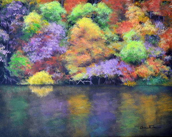 Landscape Art Print featuring the painting Fall Color by Annette Tan