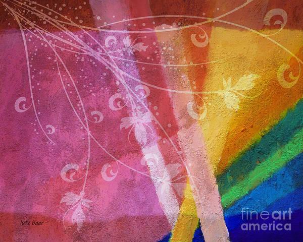 Abstract Painting Art Print featuring the digital art Fantasia II by Lutz Baar