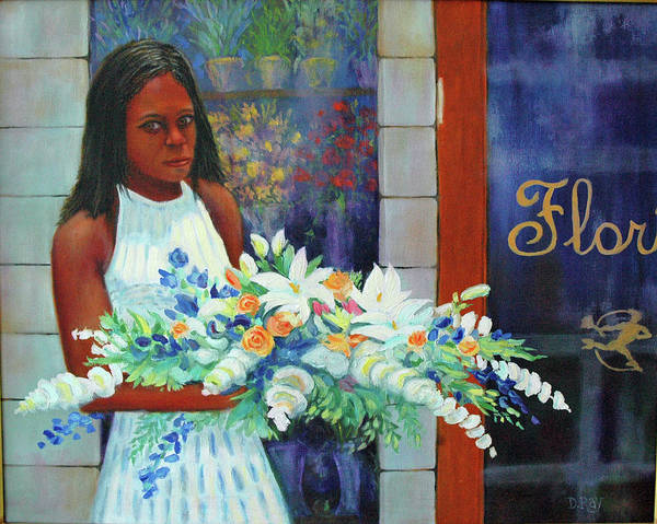 Funeral Art Print featuring the painting Solemn Occasion by Dwain Ray