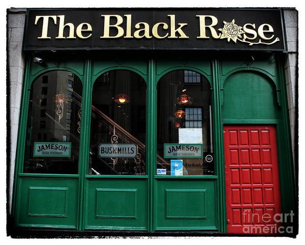 The Black Rose Of Boston Art Print featuring the photograph The Black Rose Of Boston by John Rizzuto