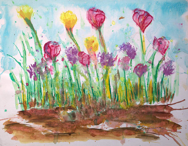 Flowers Art Print featuring the painting Blooming Colors by J R Seymour