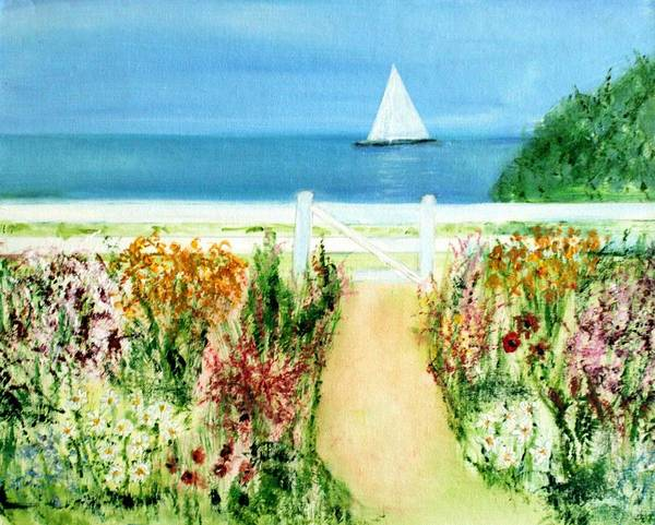 Landscape Art Print featuring the painting Celia Thaxter by Michela Akers